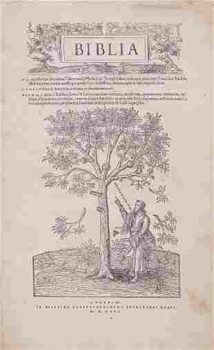Bible, - Latin . Biblia , first word of title in