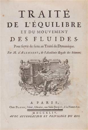 D'Alembert (Jean Le Rond) - Traité De