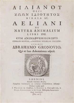 Aelianus (Claudius) - Peri Zoon Idiotetos Biblia