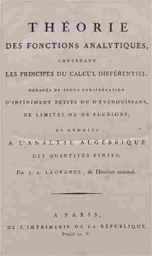 Lagrange (J[oseph] L[ouis]) - Théorie Des