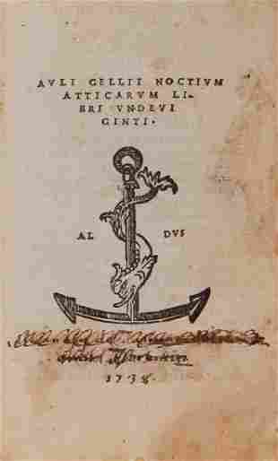 Gellius (Aulus) - Noctium Atticarum libri undeviginti,,