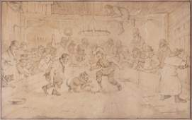 Rowlandson (Thomas) Follower of. - A Dog Fight,