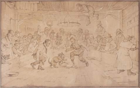 Rowlandson (Thomas) Follower of. - A Dog Fight,