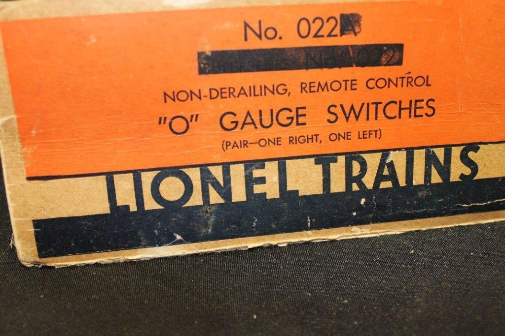 """""""O"""" Gauge Switches 022 with Box - 2"""