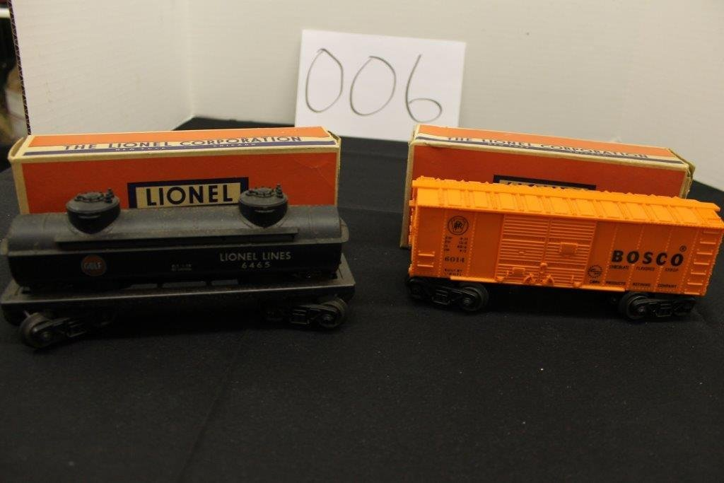 6465 Gulf Tanker with Box; Plus 6014-85 Car