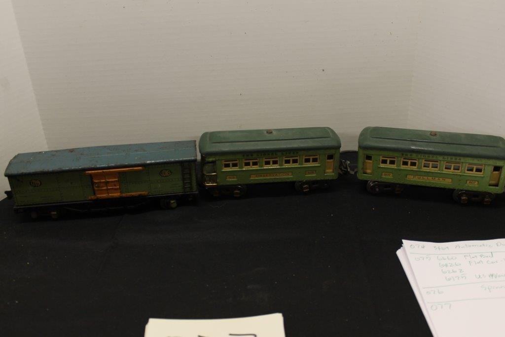 607 Pullman,608 observation,1719 freight car