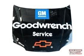Dale Earnhardt Autographed Stock Car Hood