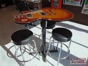 Gibson Guitar Table and Stools