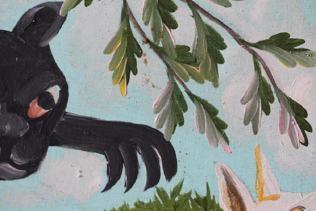 Original Oil in Board by Haitian Artist F. Pierre - 4