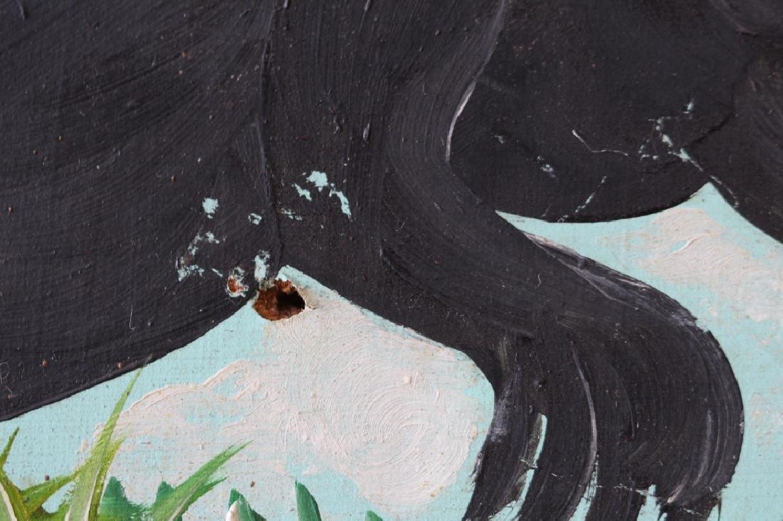 Original Oil in Board by Haitian Artist F. Pierre - 5