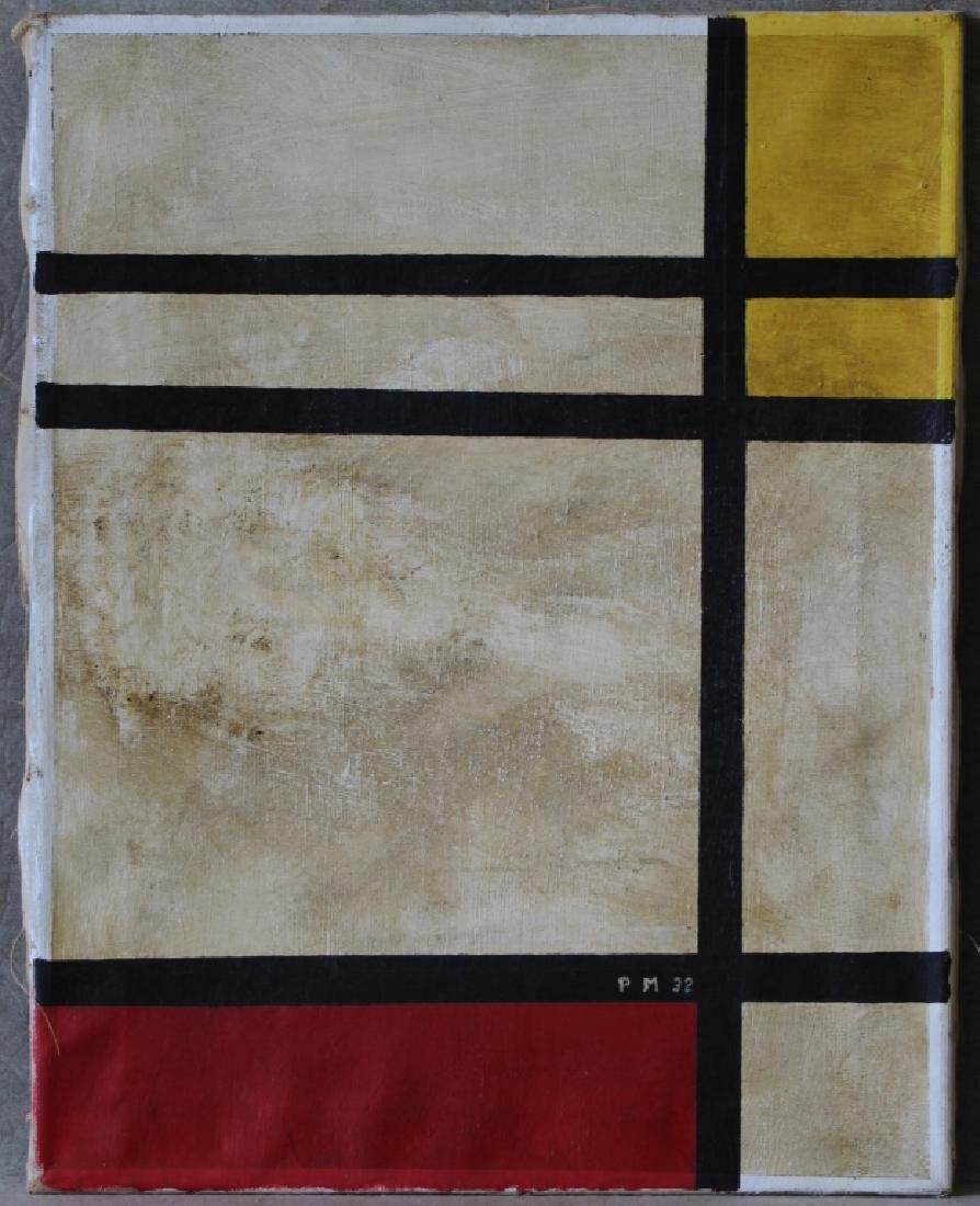 Piet Mondrian Red & Yellow w/ Gallery Tags
