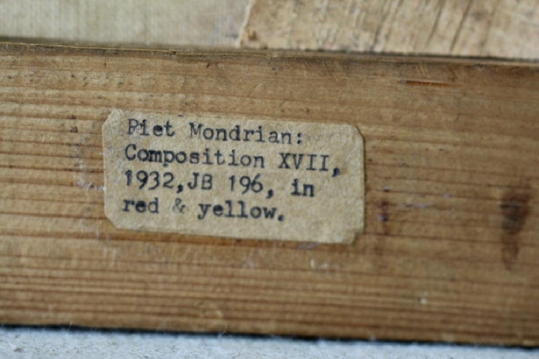 Piet Mondrian Red & Yellow w/ Gallery Tags - 4