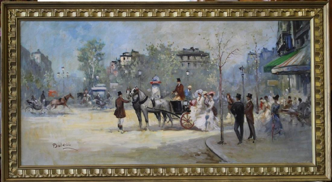 Boldrini Parisian Street Scene Oil on Canvas - 2