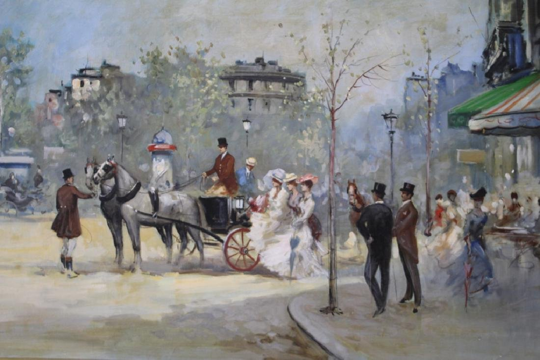 Boldrini Parisian Street Scene Oil on Canvas - 3