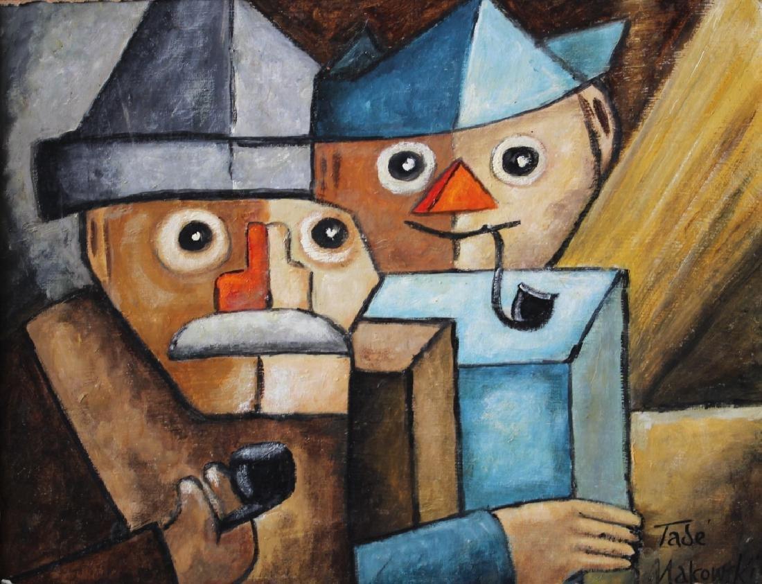 Tade Makowski 1882-1932 Polish, oil on board