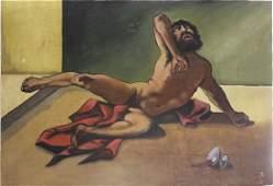 Fernando Castillo Fallen Christ Oil on Canvas
