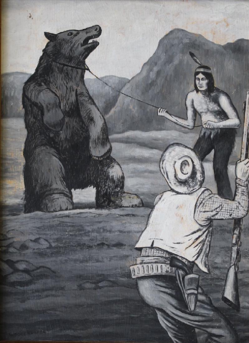 Nick Eggenhofer Western Illustration Oil on Board