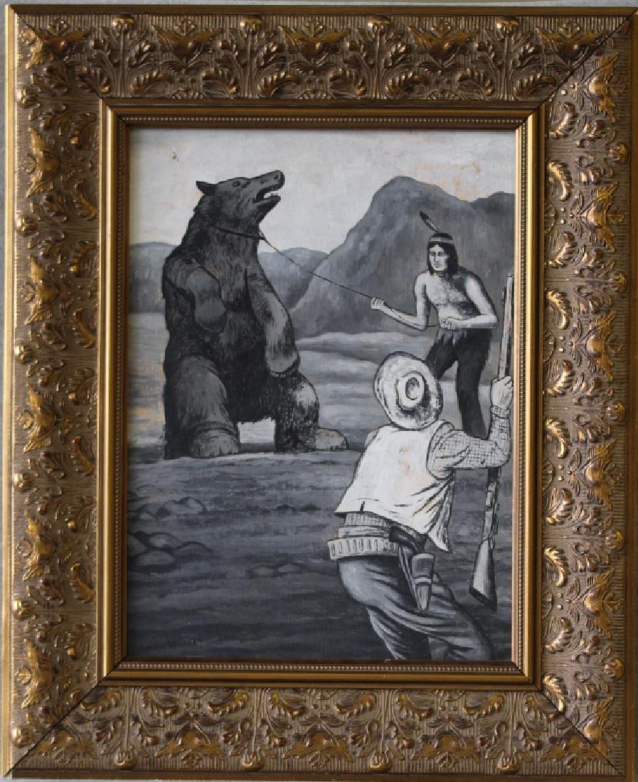 Nick Eggenhofer Western Illustration Oil on Board - 2