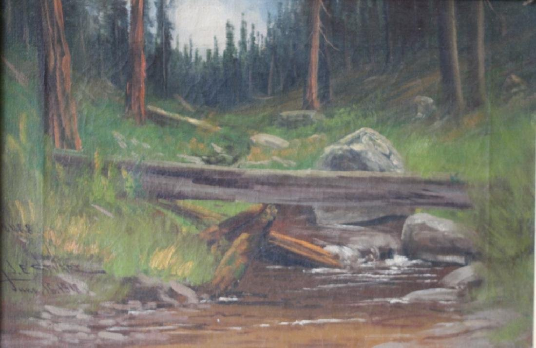 1918 James Everett Stuart Forest Landscape