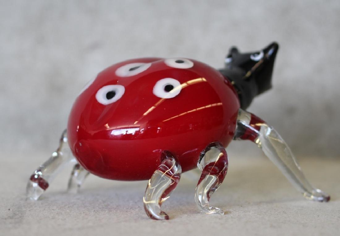 Hand-blown Murano Art Glass Lady Bug - 2