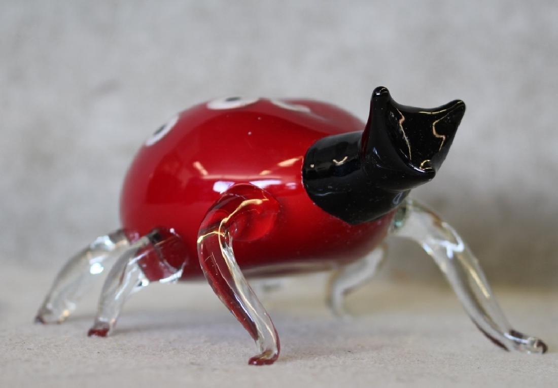 Hand-blown Murano Art Glass Lady Bug - 3
