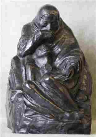 Kathe Kollwitz Pieta Bronze Noach Foundry Berlin
