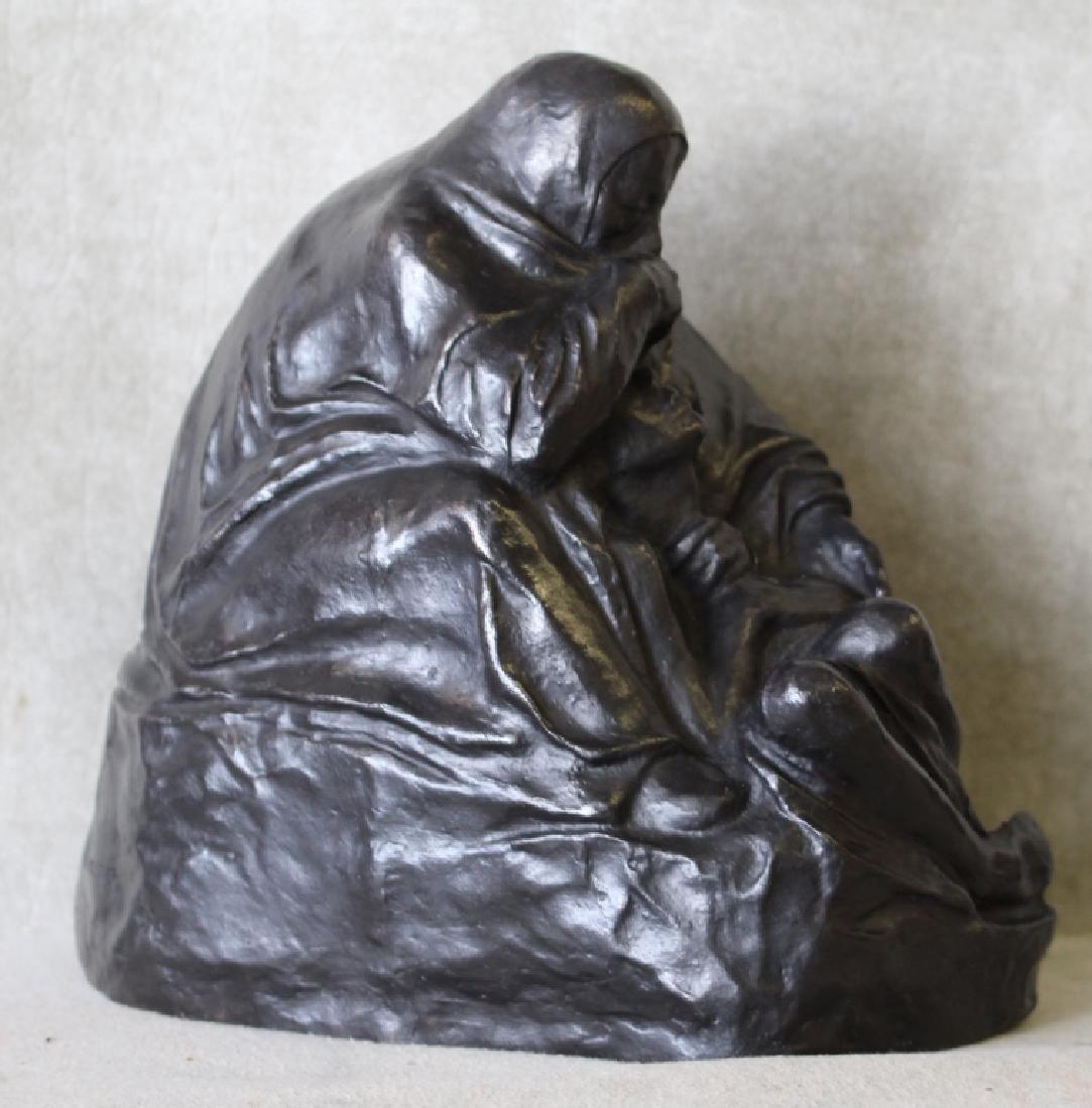 Kathe Kollwitz Pieta Bronze Noach Foundry Berlin - 3