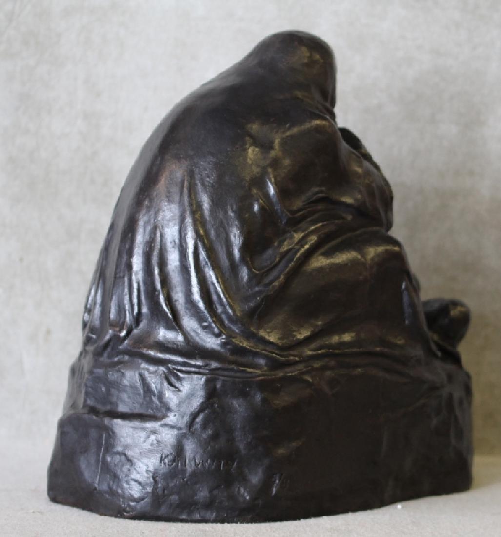 Kathe Kollwitz Pieta Bronze Noach Foundry Berlin - 4