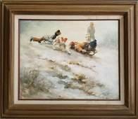 Barbara Hess Pugsley OC Winter Scene