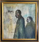 Frank Milby Two Men in Coats O/C