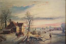 John Joseph Barker of Bath Winter Genre Scene OC