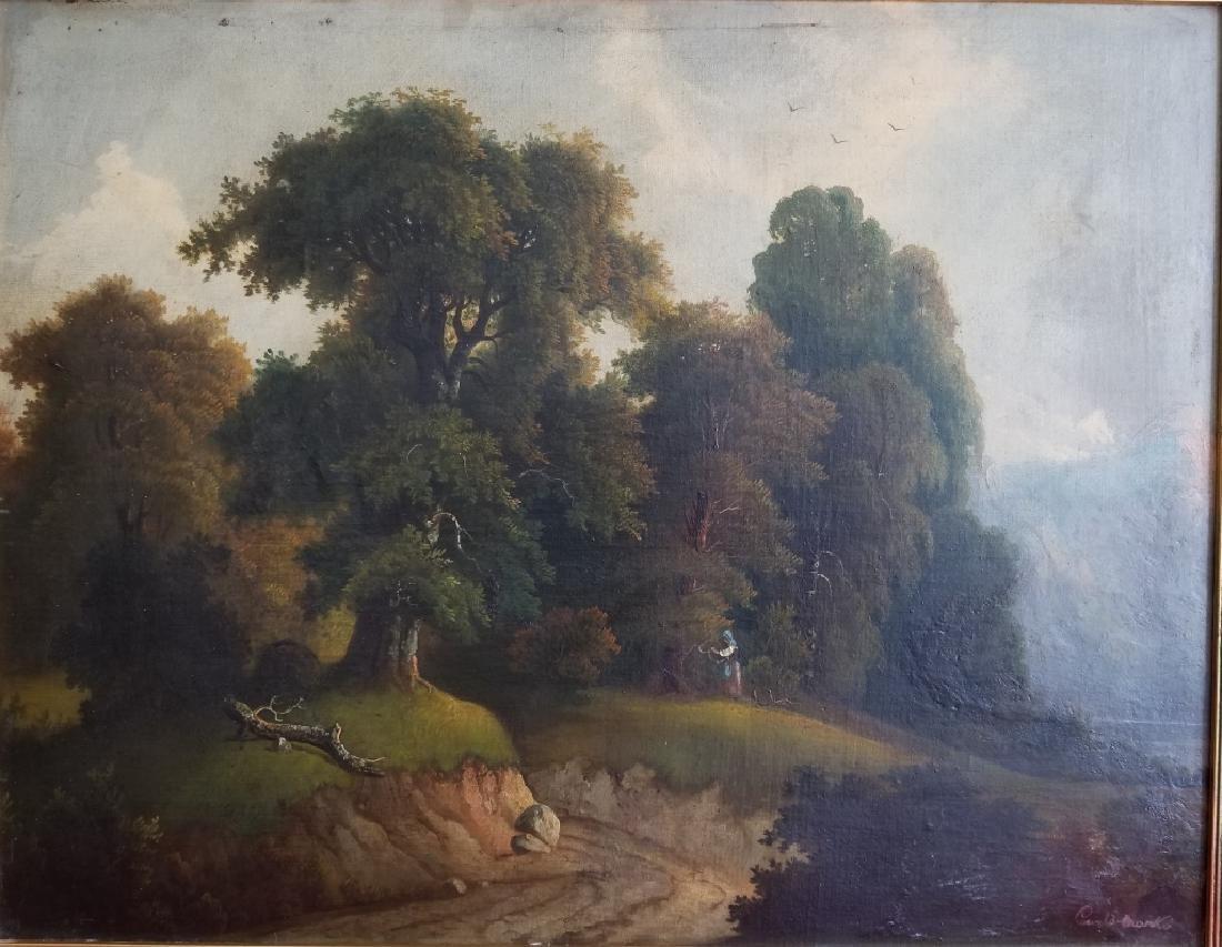 (after) Carlo Marko Pastoral Landscape O/B