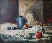 1971 Sha Qi (Sadji) Still Life with Fruit O/C