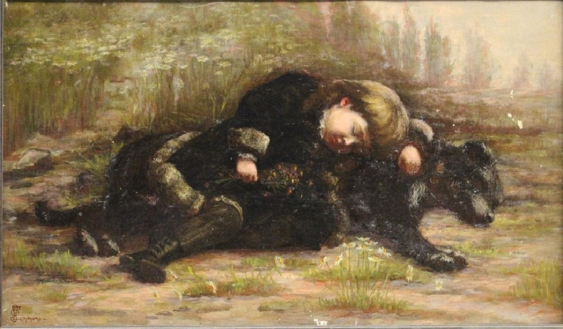 1908 Chansonetta Stanley Emmons O/C Sleeping Child