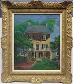 Fern Isabel Kuns Coppedge O/C Portrait of a House