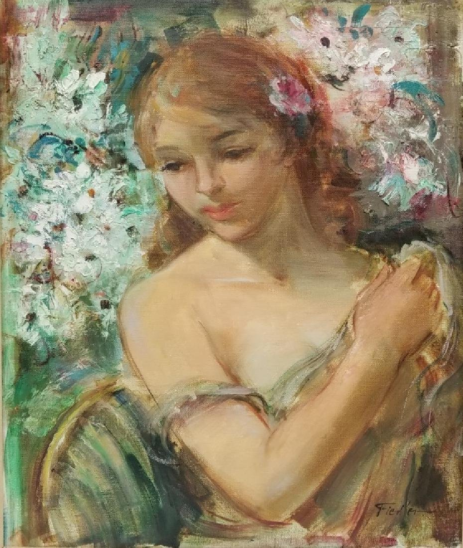Fiedler O/C Portrait of a Young Woman
