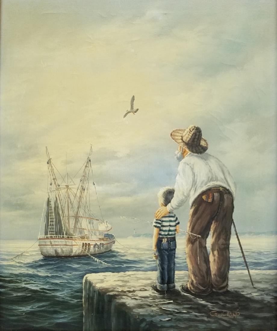 Guiliano O/C Fishing Scene