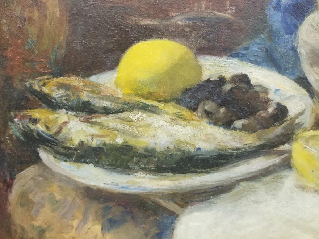 Osip Emmanuilovich Braz O/B Still-life w/ Fish - 5