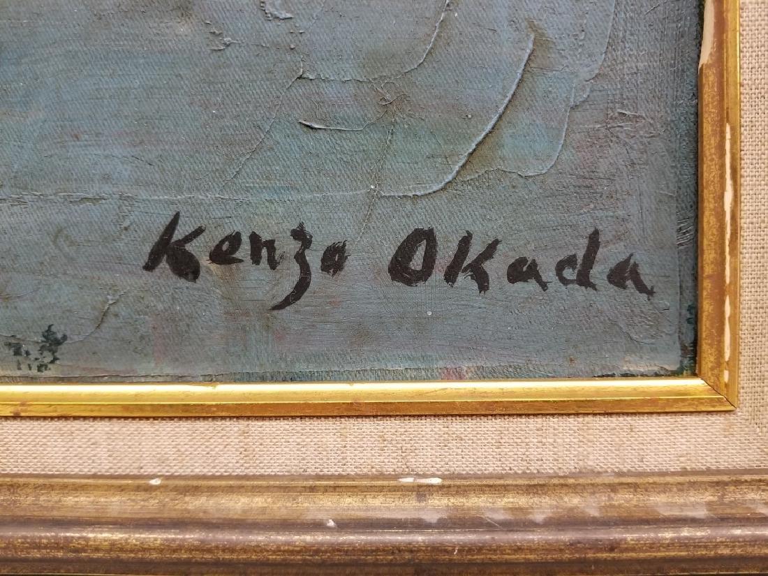 Kenzo Okada O/C Collage Abstract - 2
