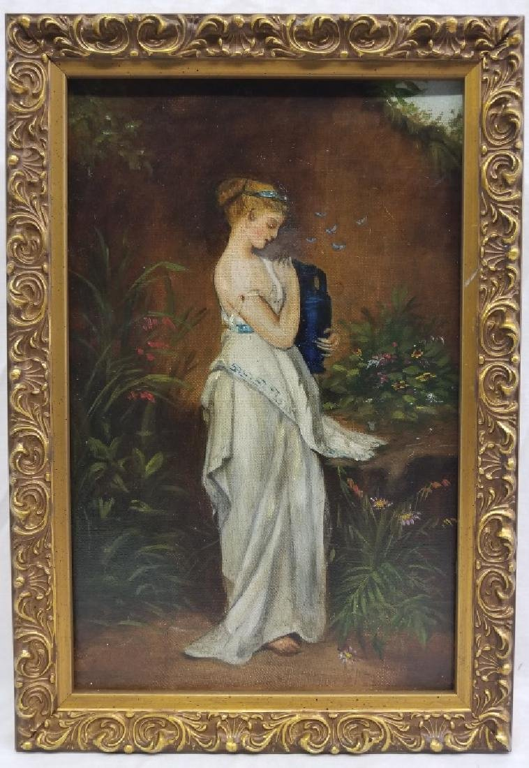 Portrait of a Woman in Grecian Dress O/B