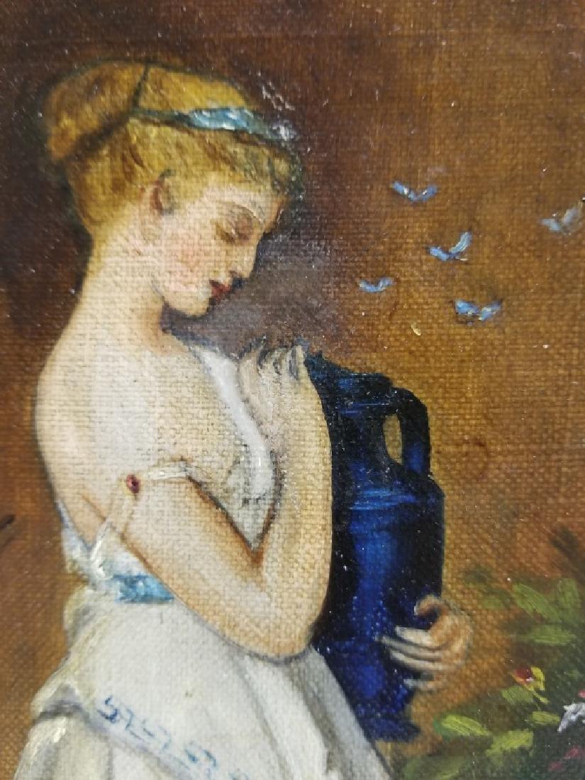 Portrait of a Woman in Grecian Dress O/B - 3