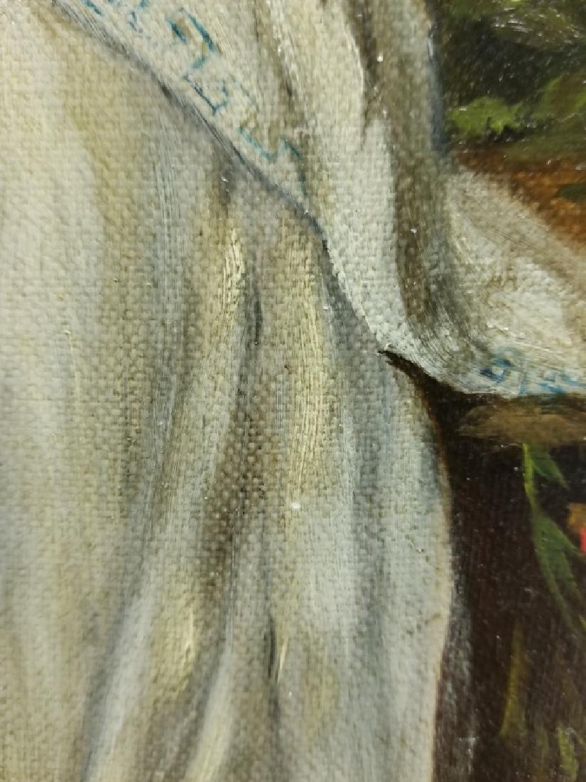 Portrait of a Woman in Grecian Dress O/B - 4