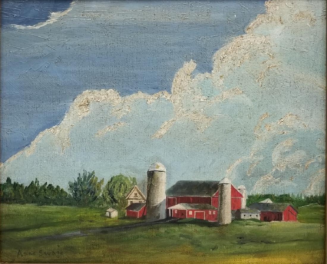 Anne Douglas Savage O/B Landscape with a Barn