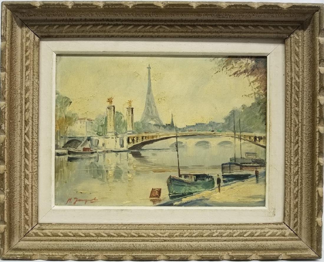 M. Janpol O/C Ponte Alexandre et la Tour Eiffel