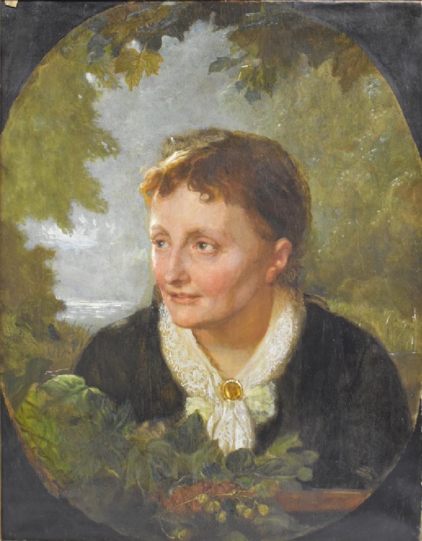 Lorenz Frolich O/C Portrait of Benedicte Frolich