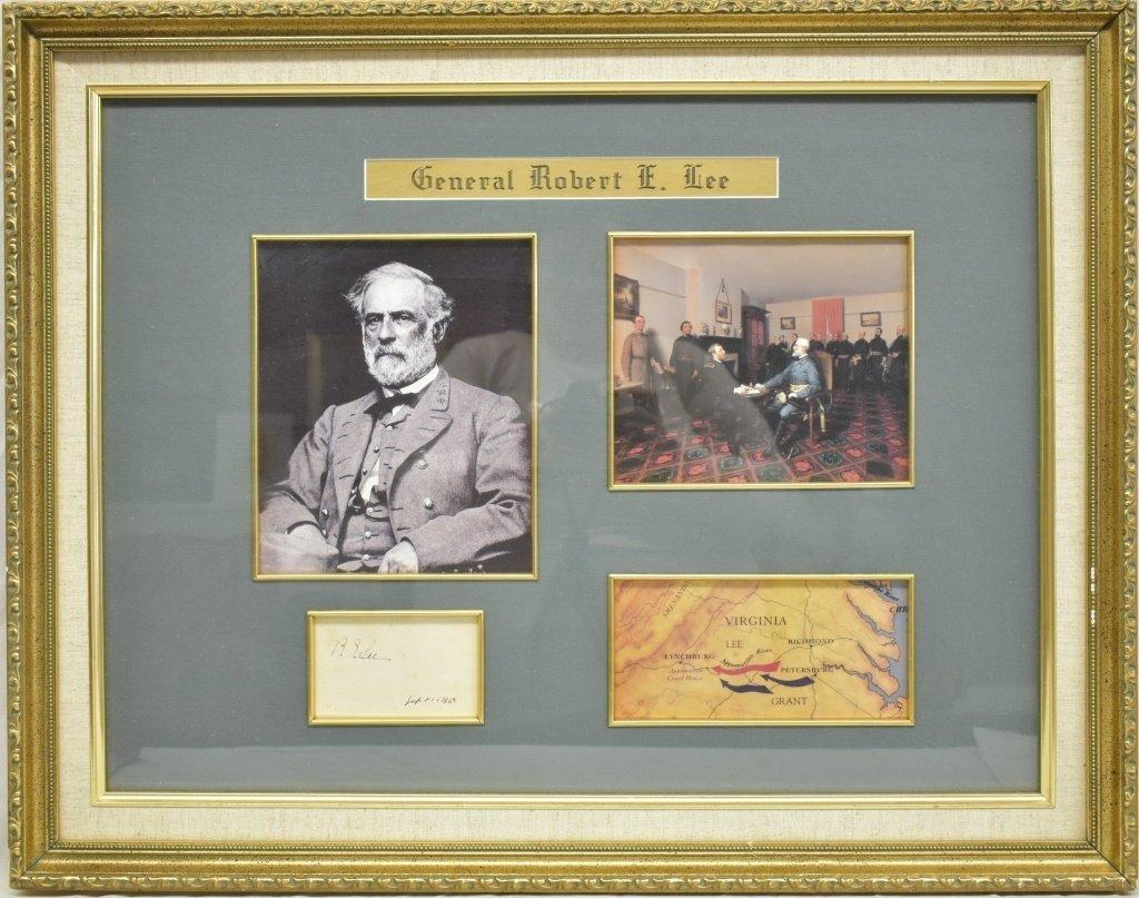 Original 1869 General Robert  E. Lee Signature
