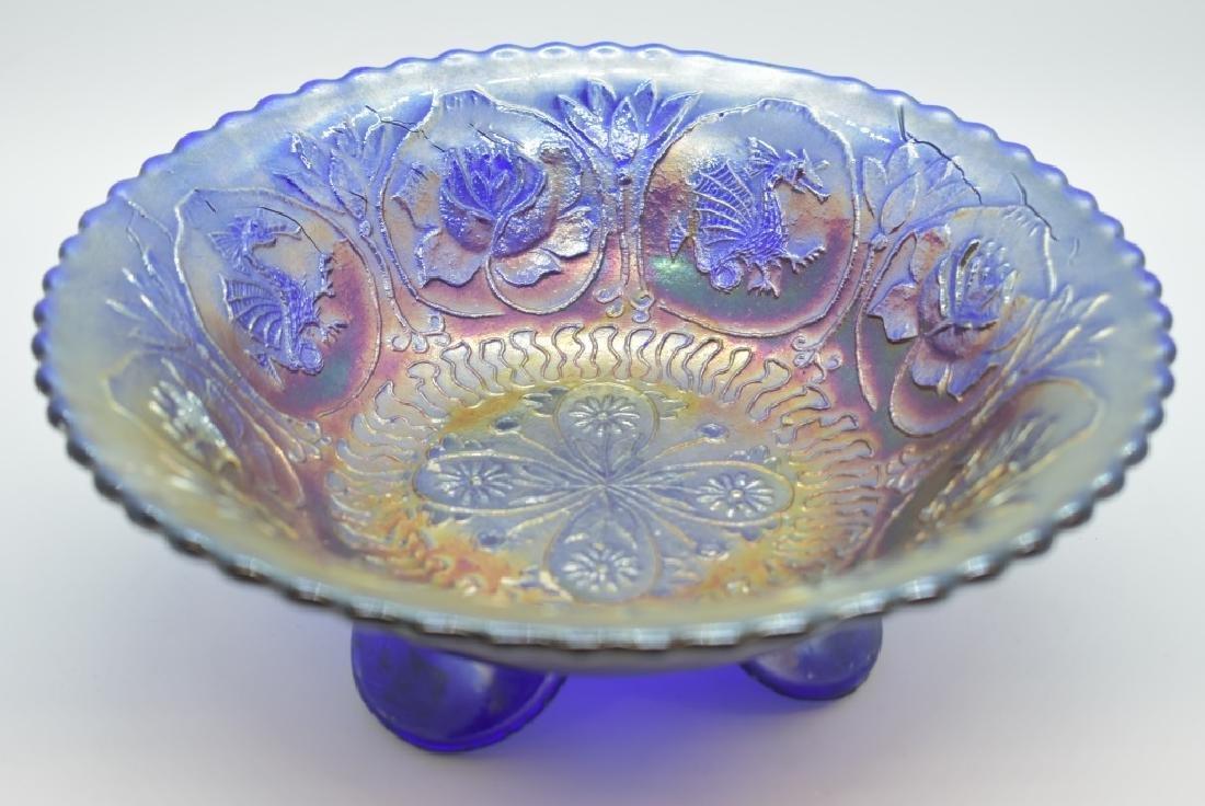 1911 Fenton Dragon & Lotus Spatula Footed Bowl