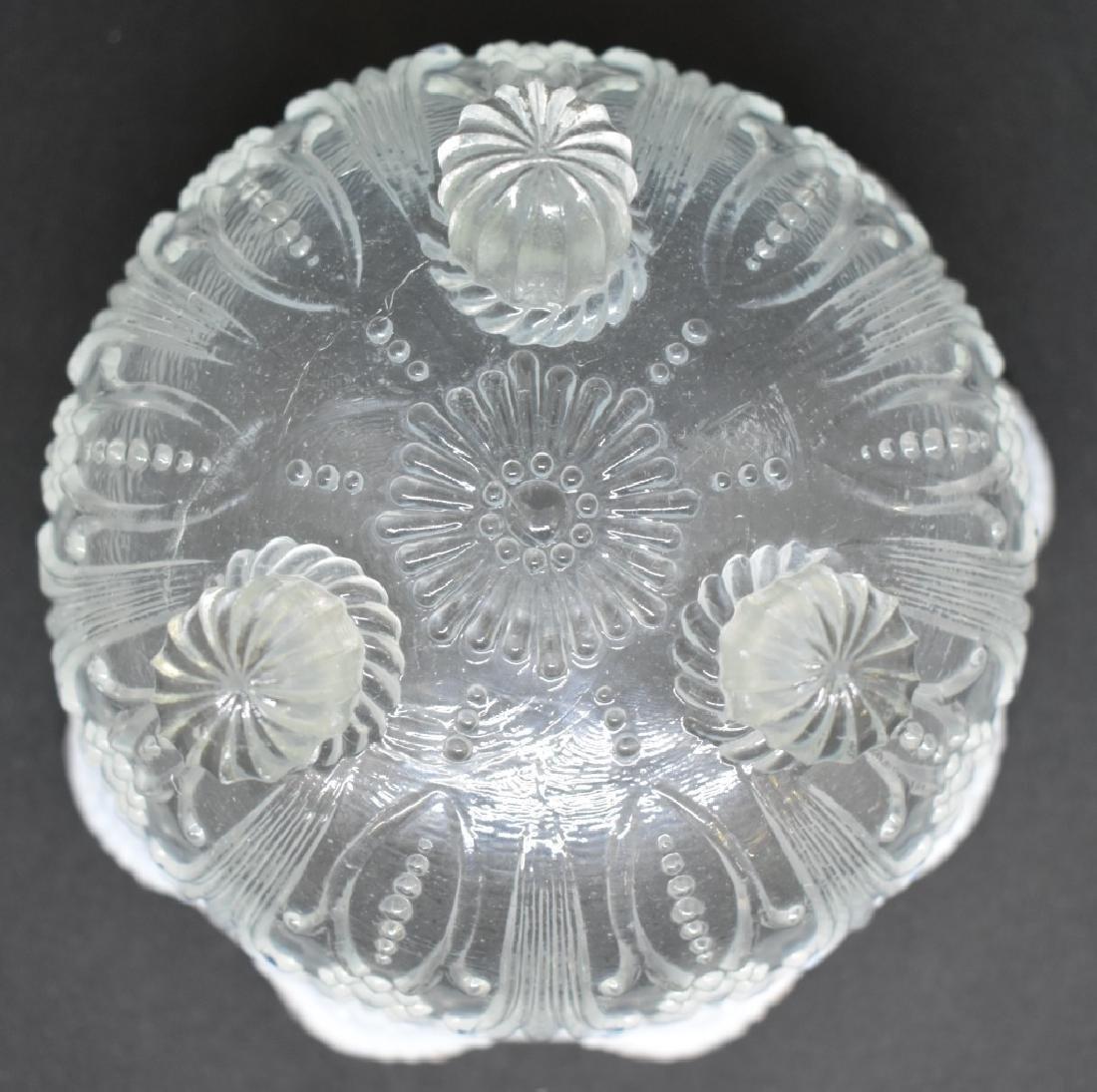Early Fenton Opalescent Daisy Candy Dish - 5