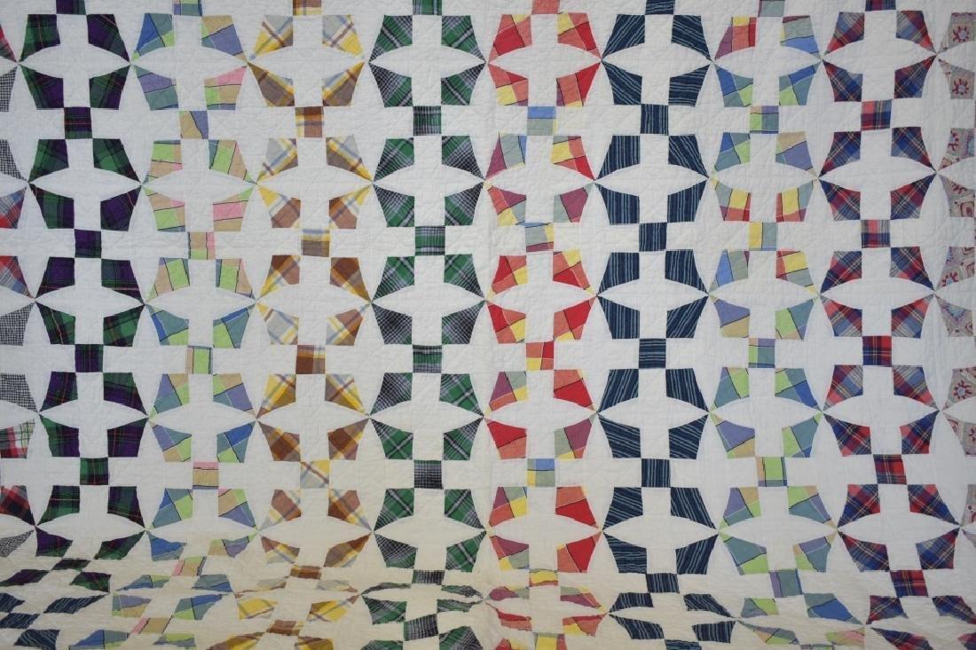 1950's Hand Sewn Pinwheel Pattern Quilt