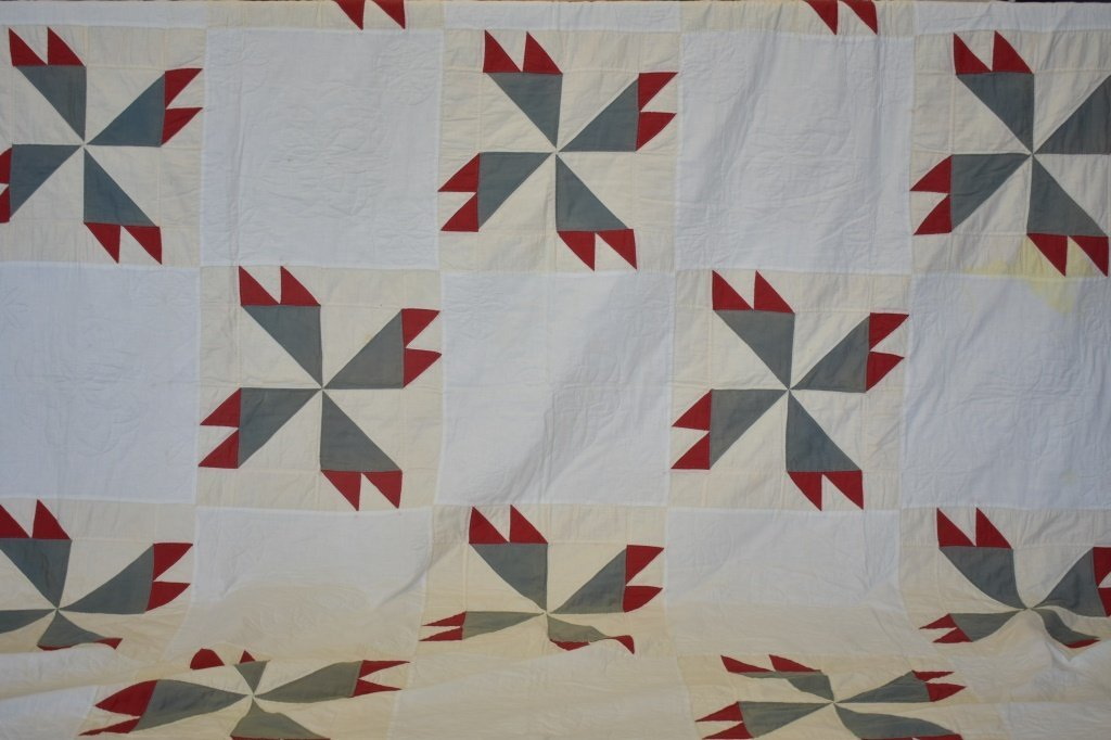 1950's Hand Sewn Pinwheel Quilt